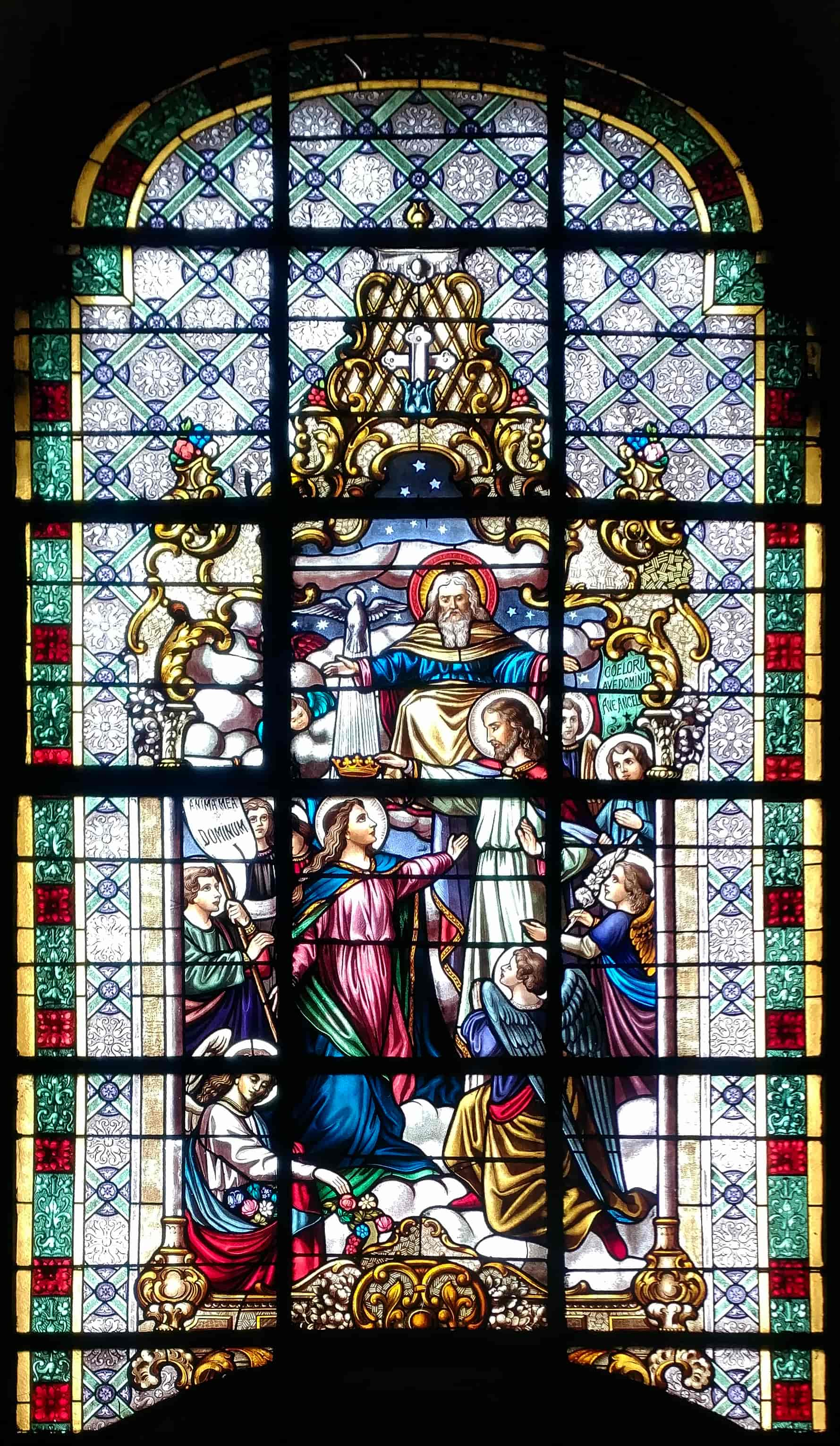 Vetrata nella chiesa di Alser Straße 17